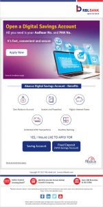 Rbl Bank Open A Zero Balance Savings Account Instantly Bank Offers
